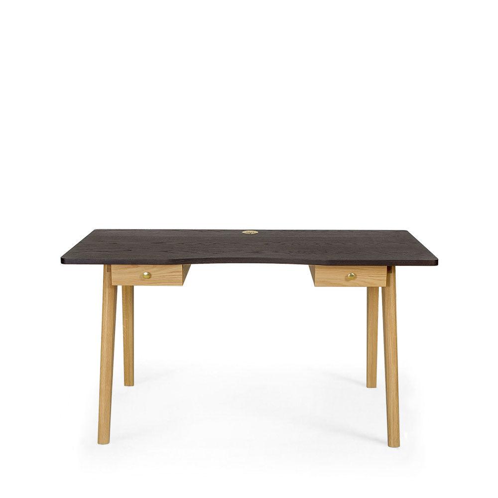 Woodman Nice Desk - Bureau en bois 2 tiroirs