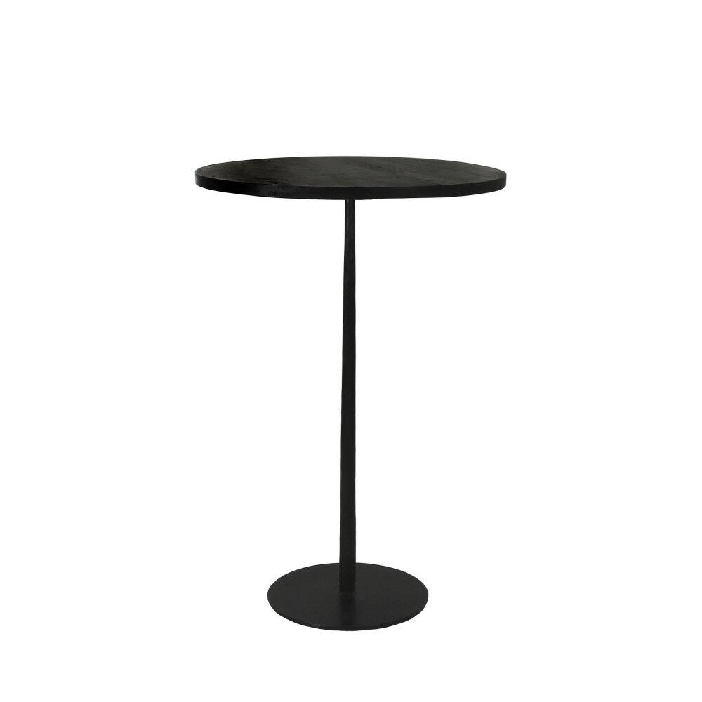 Pomax Bistro - Table de bar ronde en bois et métal ø70cm