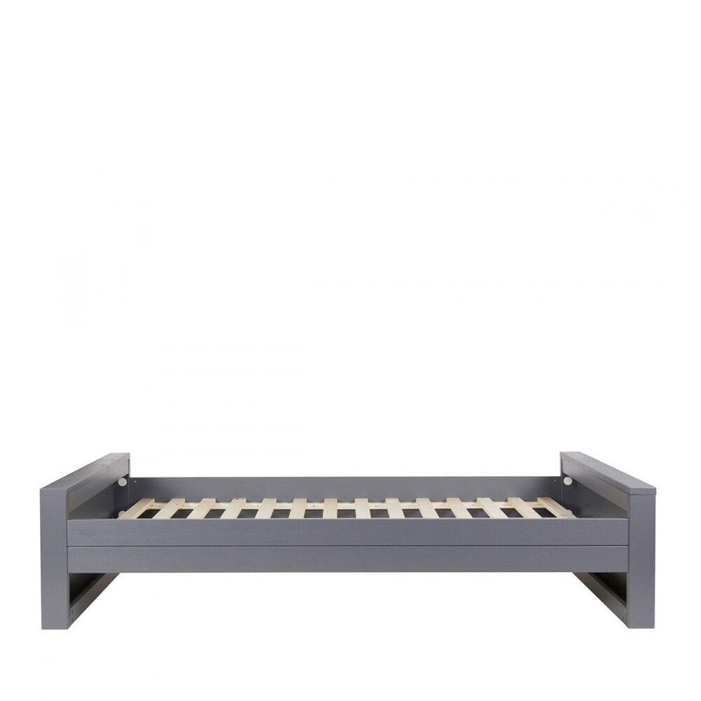 Woood Denis - Cadre de lit en bois fsc 90x200 - Couleur - Anthracite