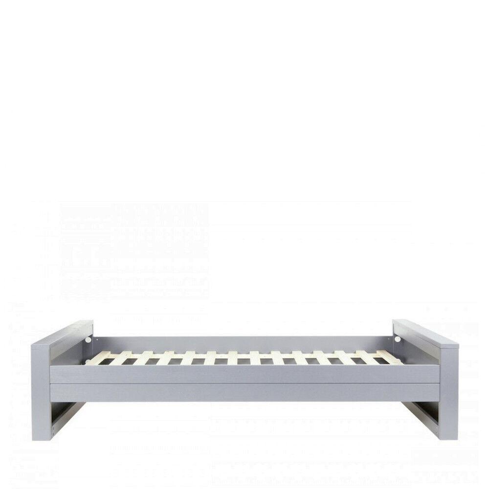 Woood Denis - Cadre de lit en bois fsc 90x200 - Couleur - Gris béton
