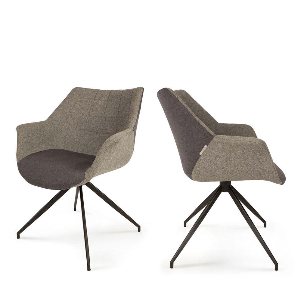 Zuiver Doulton - 2 fauteuils de table design