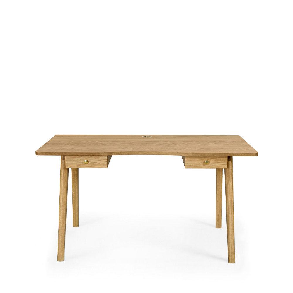 Woodman Nice Desk - Bureau en bois 2 tiroirs - Couleur - Chêne