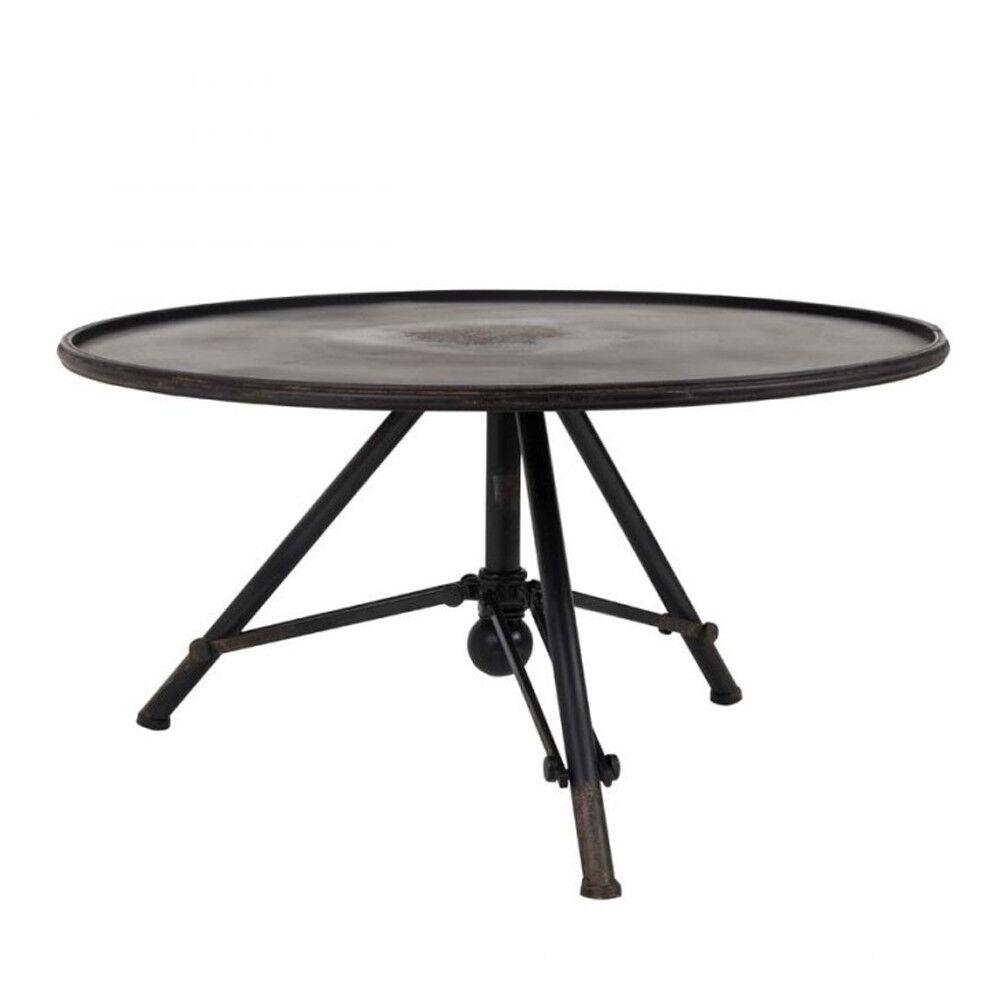 Dutchbone Brok - Table basse métal ronde industrielle