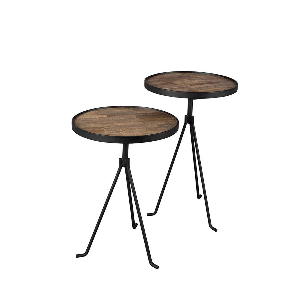 Dutchbone Tides - 2 tables d'appoint design en teck