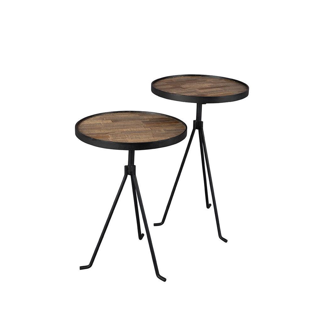 Dutchbone Tides - 2 tables d'appoint design en teck