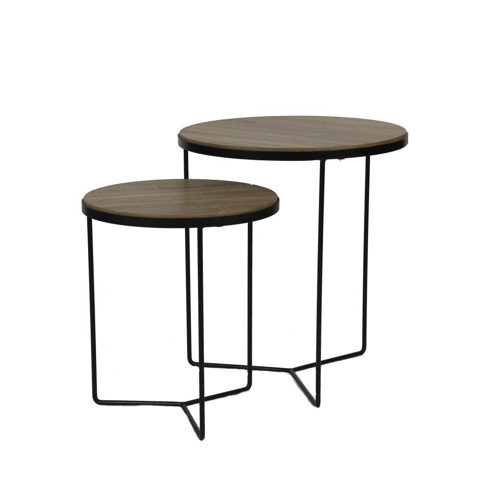 Pomax Miso - 2 tables d'appoint - Couleur - Naturel