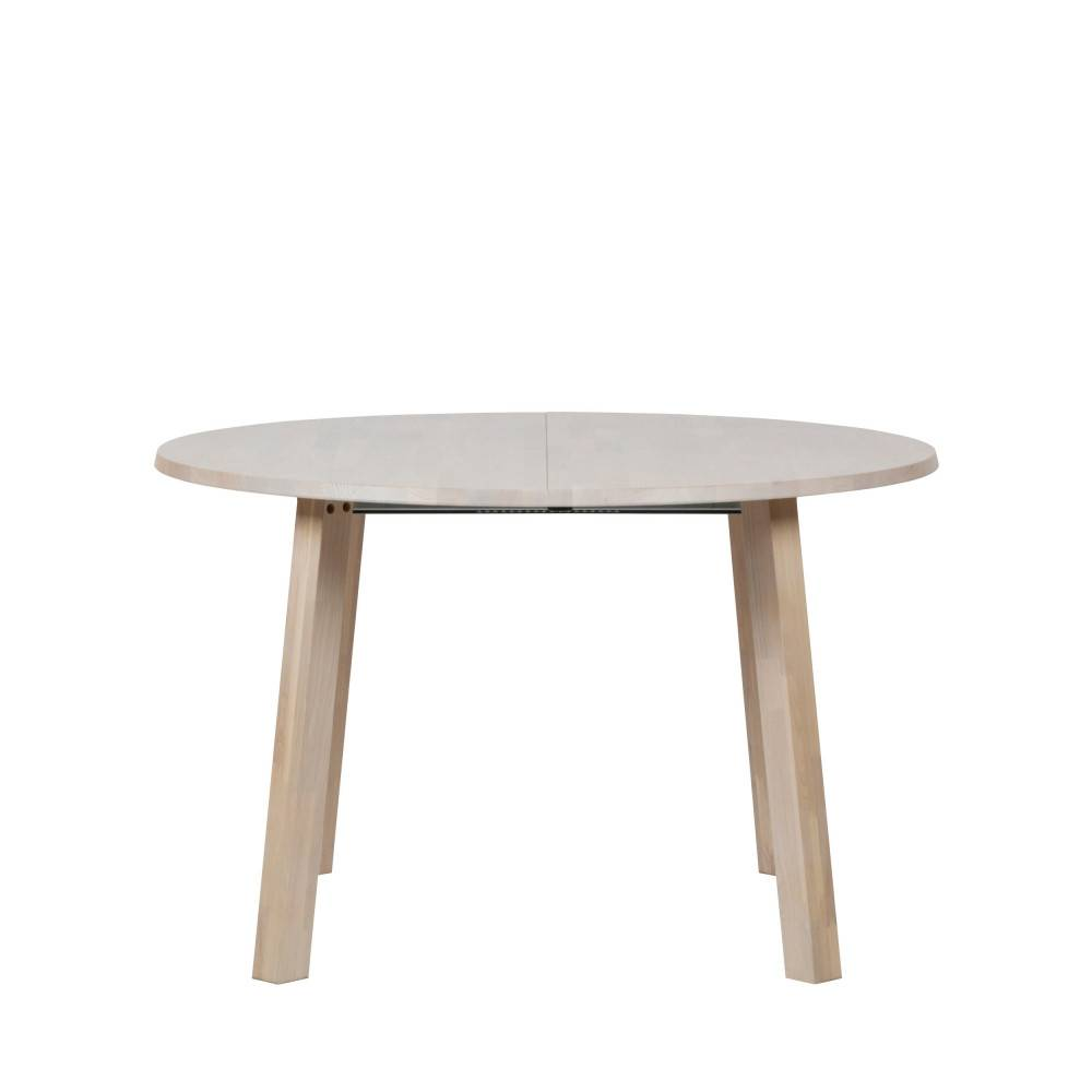 Woood Lange Jan - Table à manger extensible 120-200x120cm en bois - Couleur - Naturel