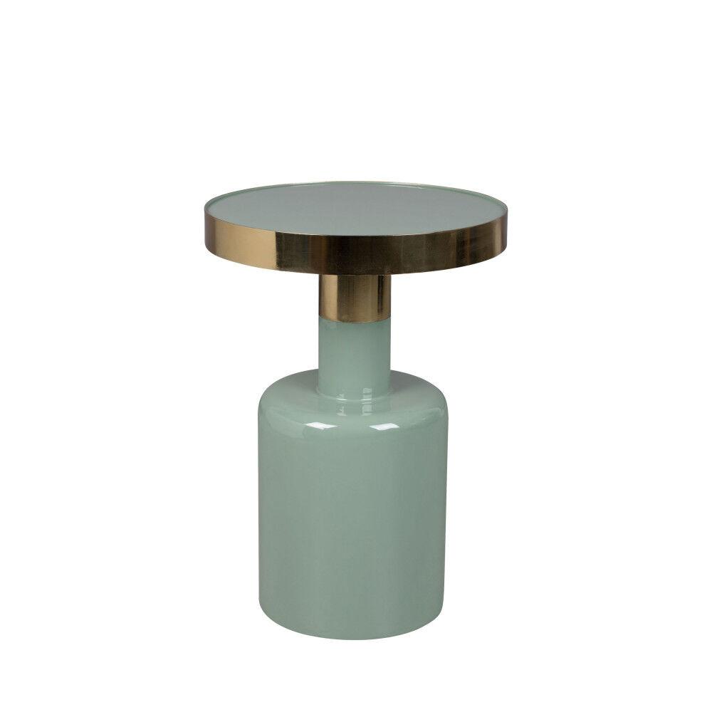 Zuiver Glam - Table d'appoint ronde en métal ø36cm - Couleur - Vert amande
