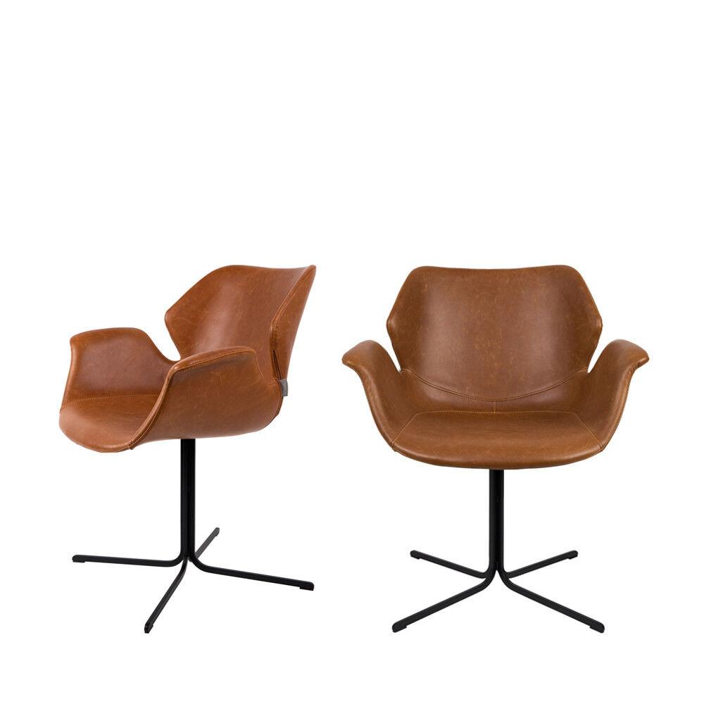 Zuiver Nikki - 2 fauteuils de table design