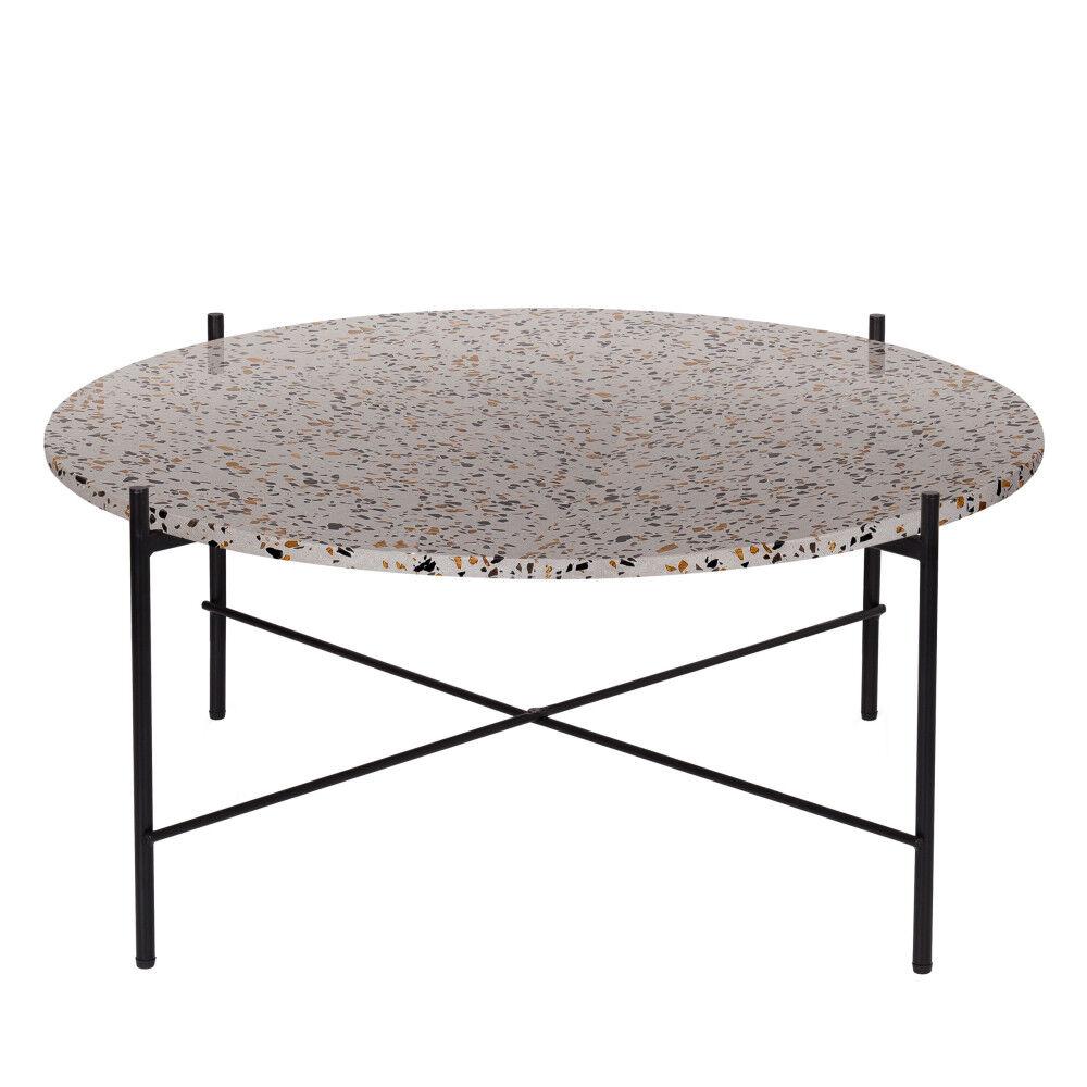 Woood Vayen - Table basse en terrazzo ⌀83