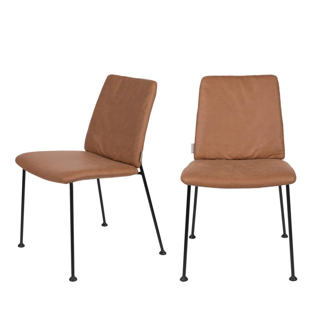 Zuiver Fab - 2 chaises en tissu micro-perforé