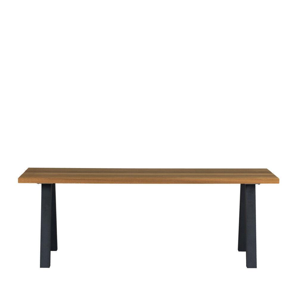 Woood Tablo - Table à manger en bois piétement en A 210x81cm