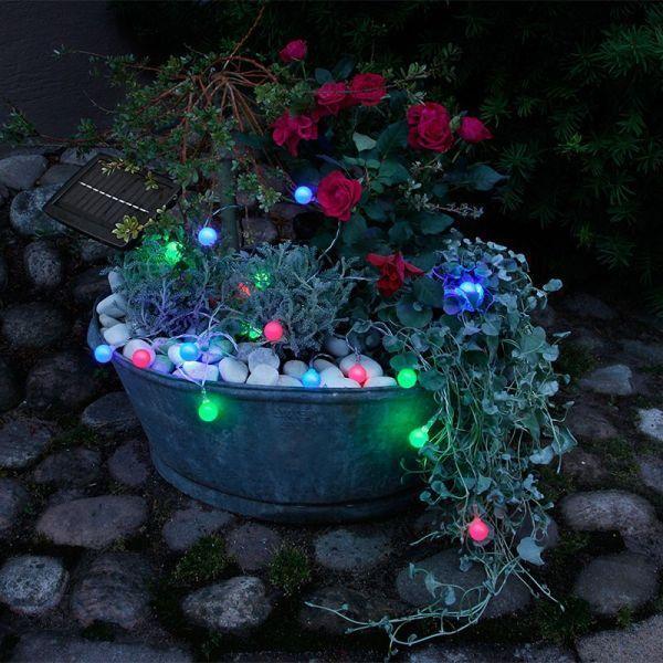 STAR Guirlande solaire bille multicolore
