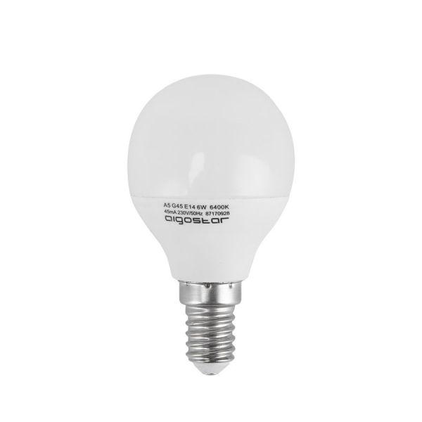 AGS Ampoule LED E14 5W Eq 45W (Température de Couleur : Blanc froid 6400K)