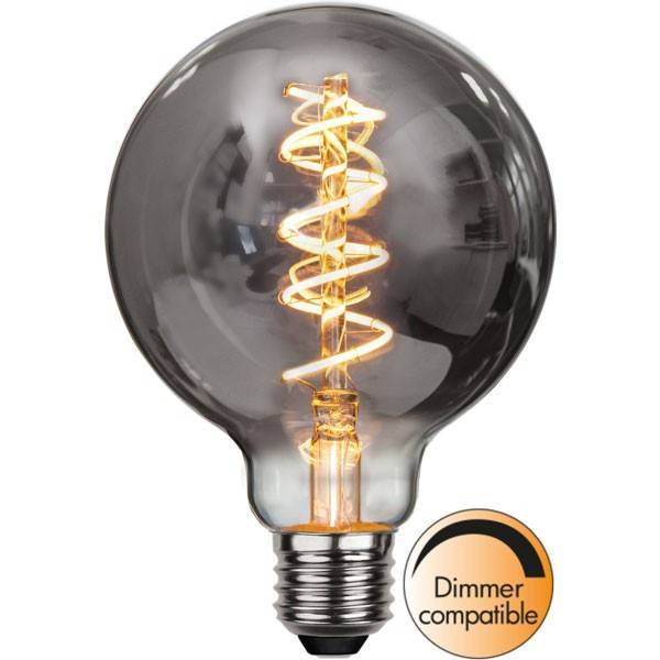 STAR Ampoule E27 G95 Filament Dimmable globe SMOKE