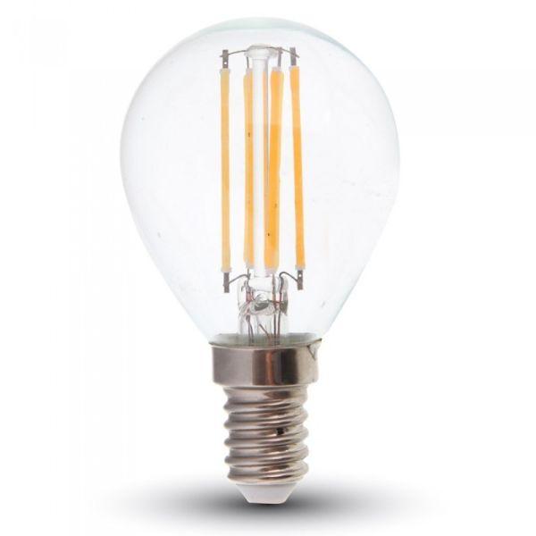 AGS Ampoule LED E14 4W G45 (Balle de golf) Eq 40W (Température de Couleur : Blanc chaud 2700K)
