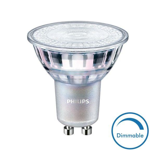 Philips Ampoule LED GU10 Dimmable 5W Eq 50W 365 Lm (Température de Couleur : Blanc chaud 3000K)