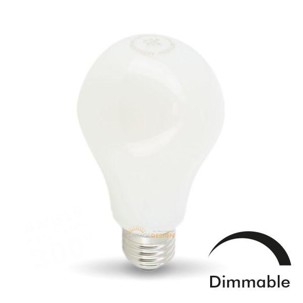 ARUM LIGHTING Ampoule LED E27 10W Eq 75W MAT Dimmable En verre (Température de Couleur : Blanc chaud 2700K)