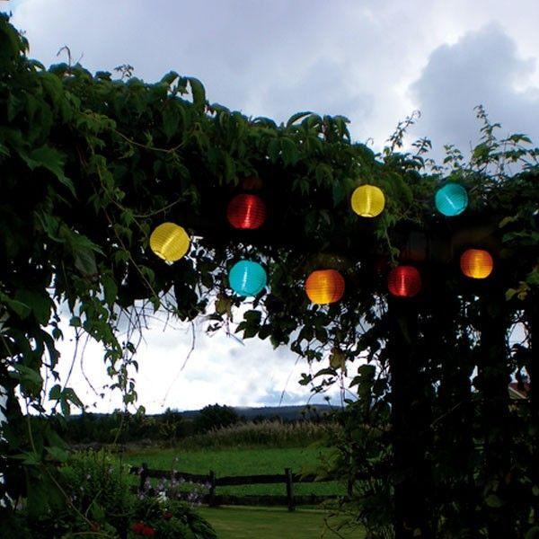 STAR Guirlande LED Solaire de 10 Lampions multicolores