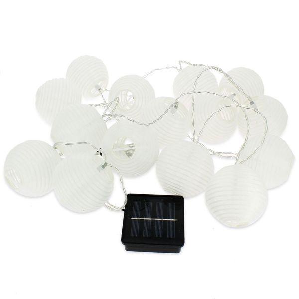 Blachere illumination Guirlande Solaire Lampions Blancs Chinois 7cm