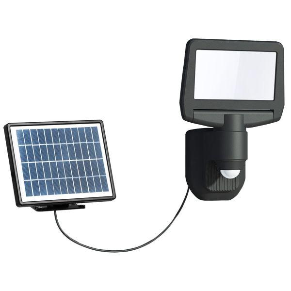 AREV Projecteur solaire noir 15W LED 1000 lumens