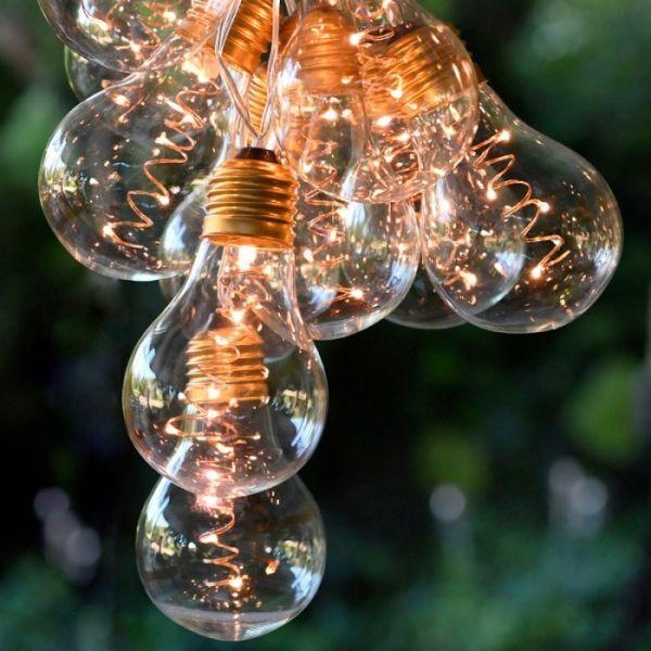Blachere illumination Guirlande solaire 2,7m de 10 ampoules LED Blanc Chaud
