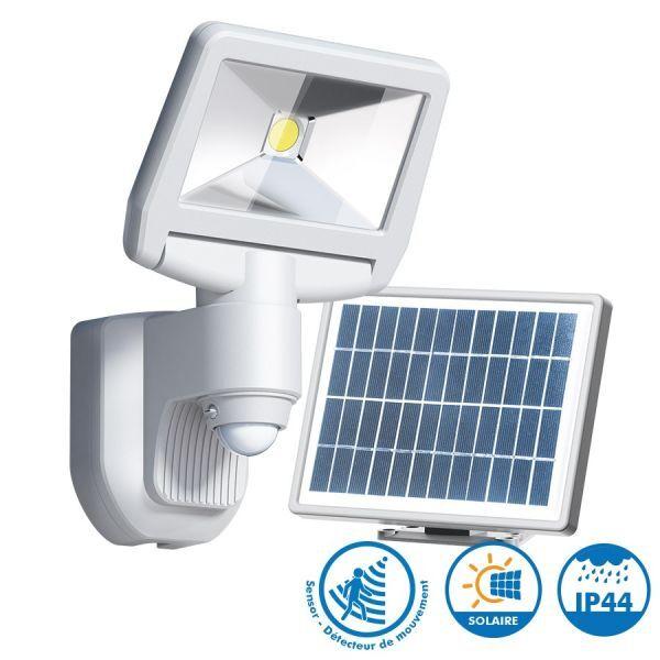 ARUM LIGHTING Projecteur solaire ESTEBAN Blanc à détection 850 Lumens Eq 70W