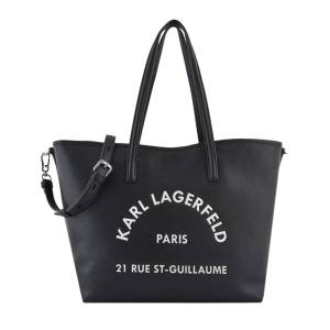 KARL LAGERFELD Sac Cabas Rue St Guillaume Cuir Karl Lagerfeld Noir - Publicité