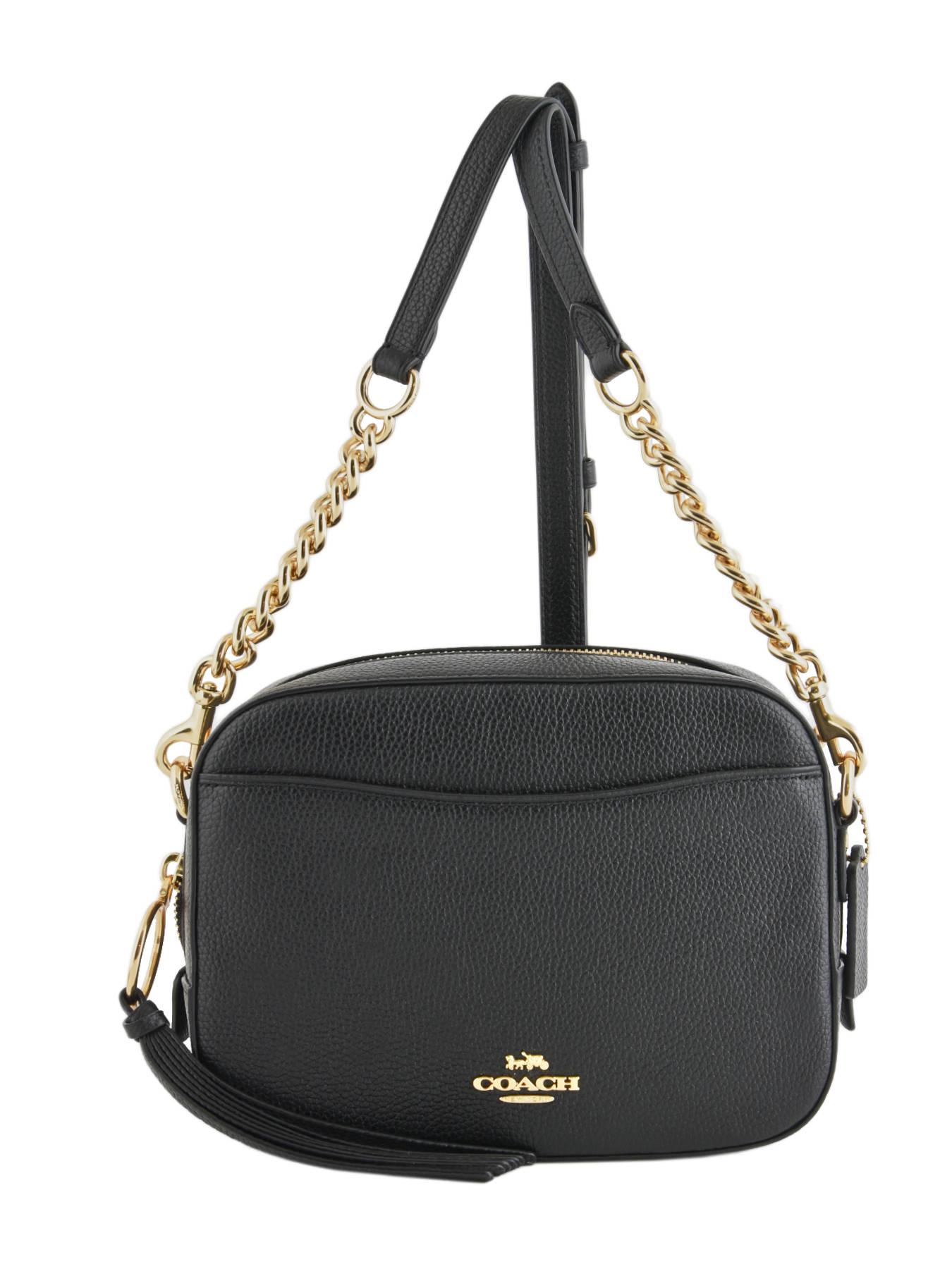 COACH Sac Bandoulière Camera Bag Cuir Coach Noir