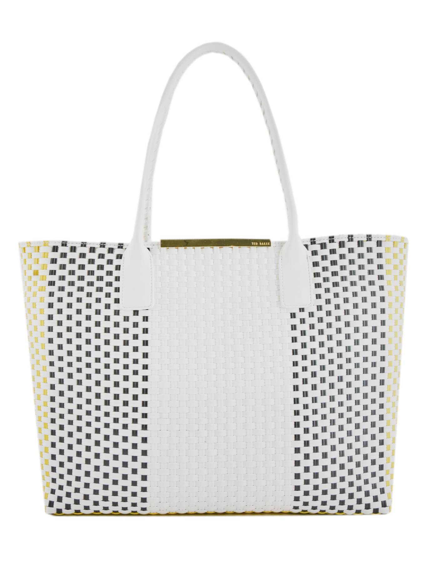 TED BAKER Sac Cabas Woven Ted Baker Blanc