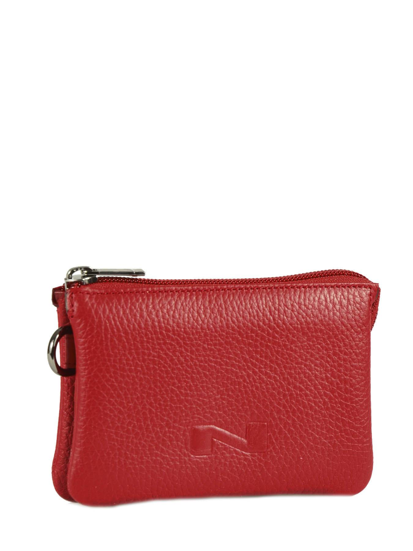 NATHAN BAUME Trousse Cuir Nathan Baume Rouge