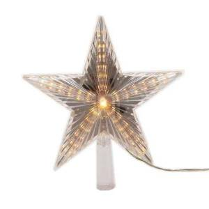 Kaemingk Étoile LED pointe d'arbre 22cm lumière défilante blanc chaud