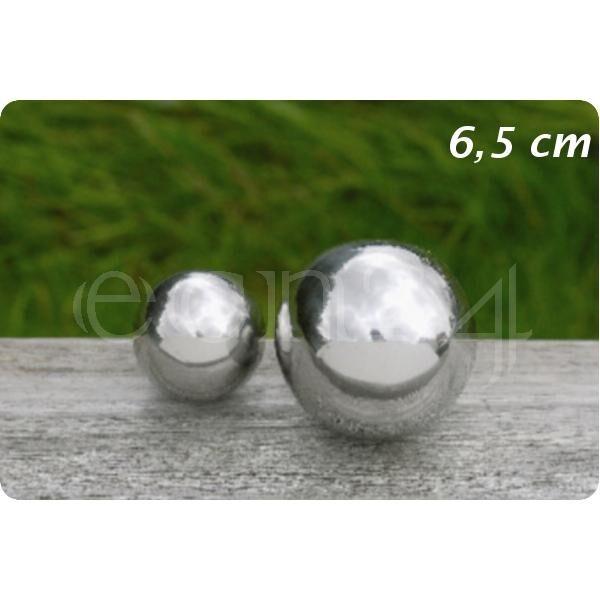 Boltze Boule de décoration inox pour jardin ou étang 6,5 cm