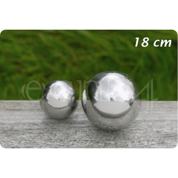 Boltze Boule de décoration inox pour jardin ou étang 18 cm