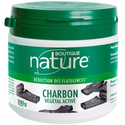 Boutique Nature Charbon activé végétal poudre, 200 grammes