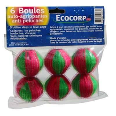 Ecocorp 6 boules anti peluches