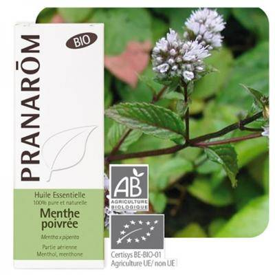 Pranarom Menthe poivrée bio huile essentielle, 10 ml