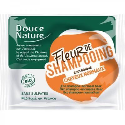 Douce Nature Fleur de shampoing bio solide, cheveux normaux