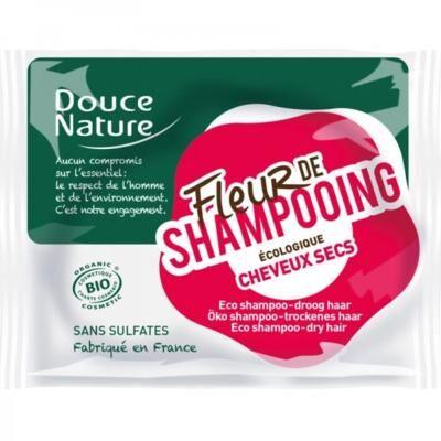 Douce Nature Fleur de shampooing solidide bio, cheveux sec