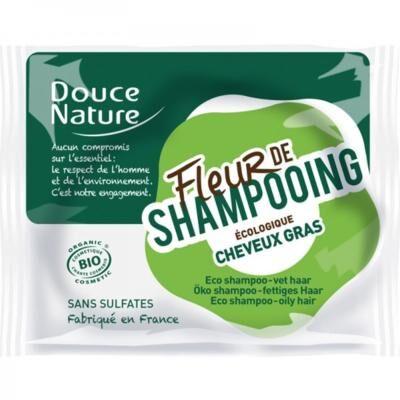 Douce Nature Fleur shampooing solide bio, cheveux gras