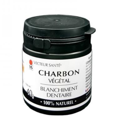 Vecteur Santé Charbon végétal blanchiment dentaire, 40 grammes