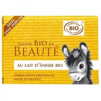 Nature Progres - Cosmo Naturel Savon au lait d'ânesse bio miel, sans parfum