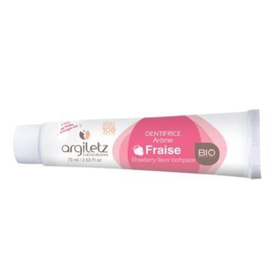 Argiletz Dentifrice arôme fraise bio, 75 ml