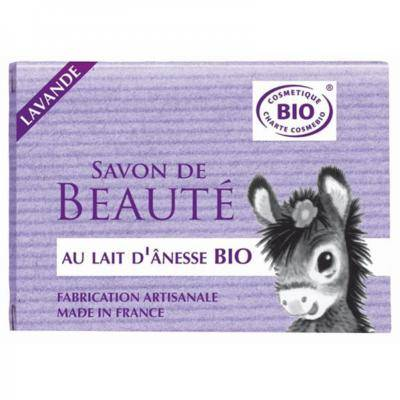 Nature Progres - Cosmo Naturel Savon au lait d'ânesse lavande bio, 100 grammes
