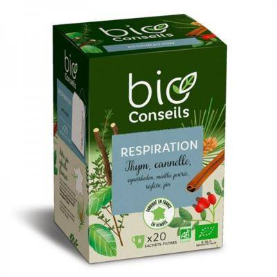 Bio Conseils Infusion bio Respiratoire, 20 sachets