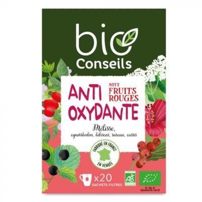 Bio Conseils Infusion bio Antioxydante fruits rouges, 20 sachets