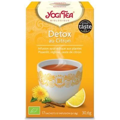 Yogi tea bio Détox citron, 17 sachets