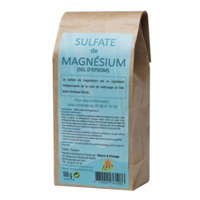 Nature et Partage Sulfate de magnésium, 500 grammes