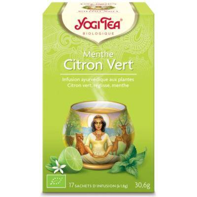 Yogi Tea, Menthe citron vert bio, 17 achets