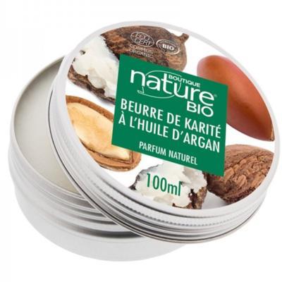 Boutique Nature Beurre de karité et argan bio, pot 100 ml